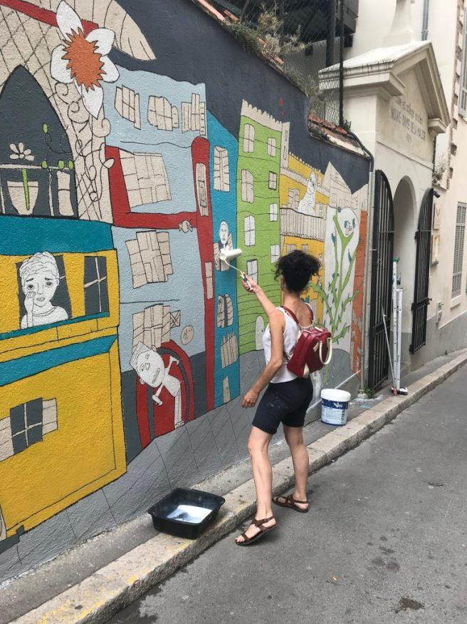 Artiste-de-rue-Paniers