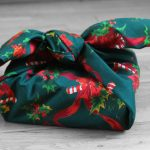 furoshiki motif noel vert