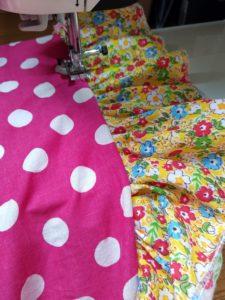 Robe rockabilly, détail du froufrou