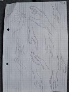dessin de mains
