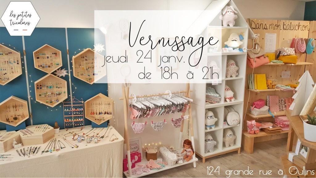 Vernissage Inauguration Boutique Les Petites Tricolores à Oullins