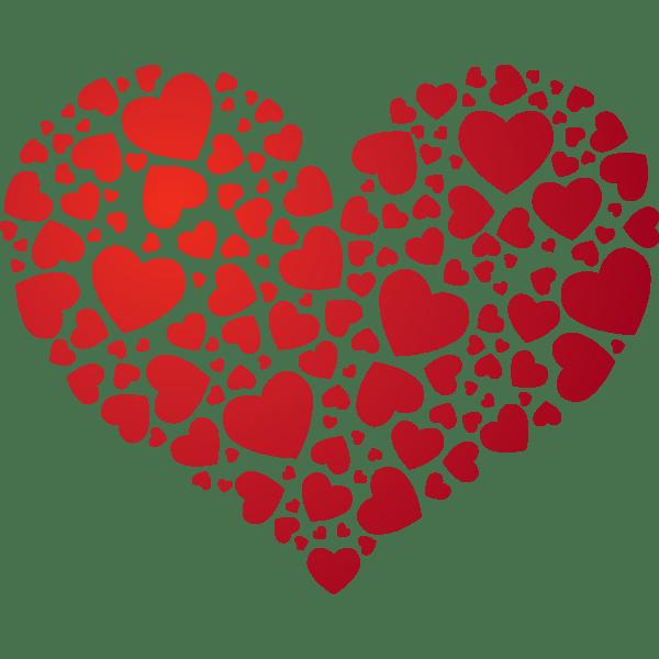 joli coeur de coeurs rouge