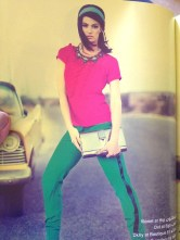 Jolita Jewellery feature in 7ayyam Magazine from Cairo. A model is wearing colourful St.Tropez necklace as stocked by D Jewelry