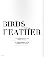 Atlas Magazine - The Obsession Issue, March 2014 - Birds Of A Feather editorial, featuring St.Petersburg statement necklace by Jolita Jewellery