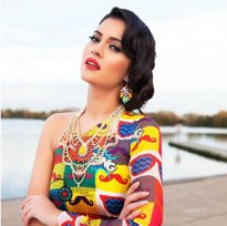 Tangier statement necklace by Jolita Jewellery in the January 2014 issue of Xpose Pakistan magazine