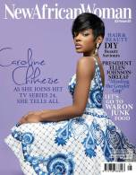 Caroline Chikezie in Duchess earrings - Cover of New African Woman, May 2014