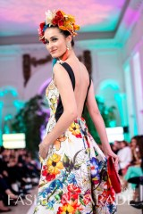 Fashion Parade 2014 - in Skull and Tassel statement earrings by Jolita Jewellery, Zara Shahjahan clothes