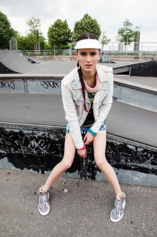 I Honestly Think magazine - London Fashion Week issue September 2014 - In our pastel Salzburg necklace