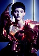 Jolita Jewellery's pink crystal Debutante earrings featured in Vision Magazine, China