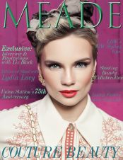 Meade Magazine November 2014 cover, featuring editorial with Jolita Jewellery statement pieces