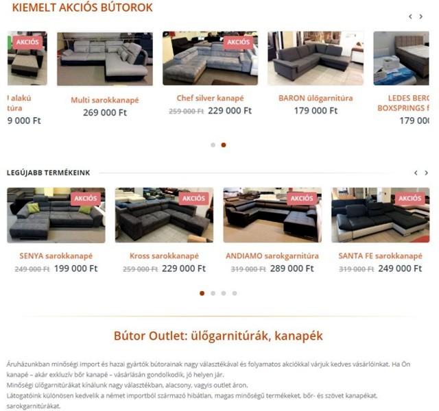 Bútor Outlet: ülőgarnitúrák, kanapék