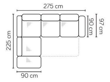 Ülőbútor mérettáblája