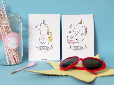 """Collection """"in Unicorn we trust"""". photo: Etsy Sobi Graphie"""