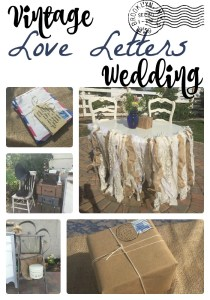 vintage love letters wedding