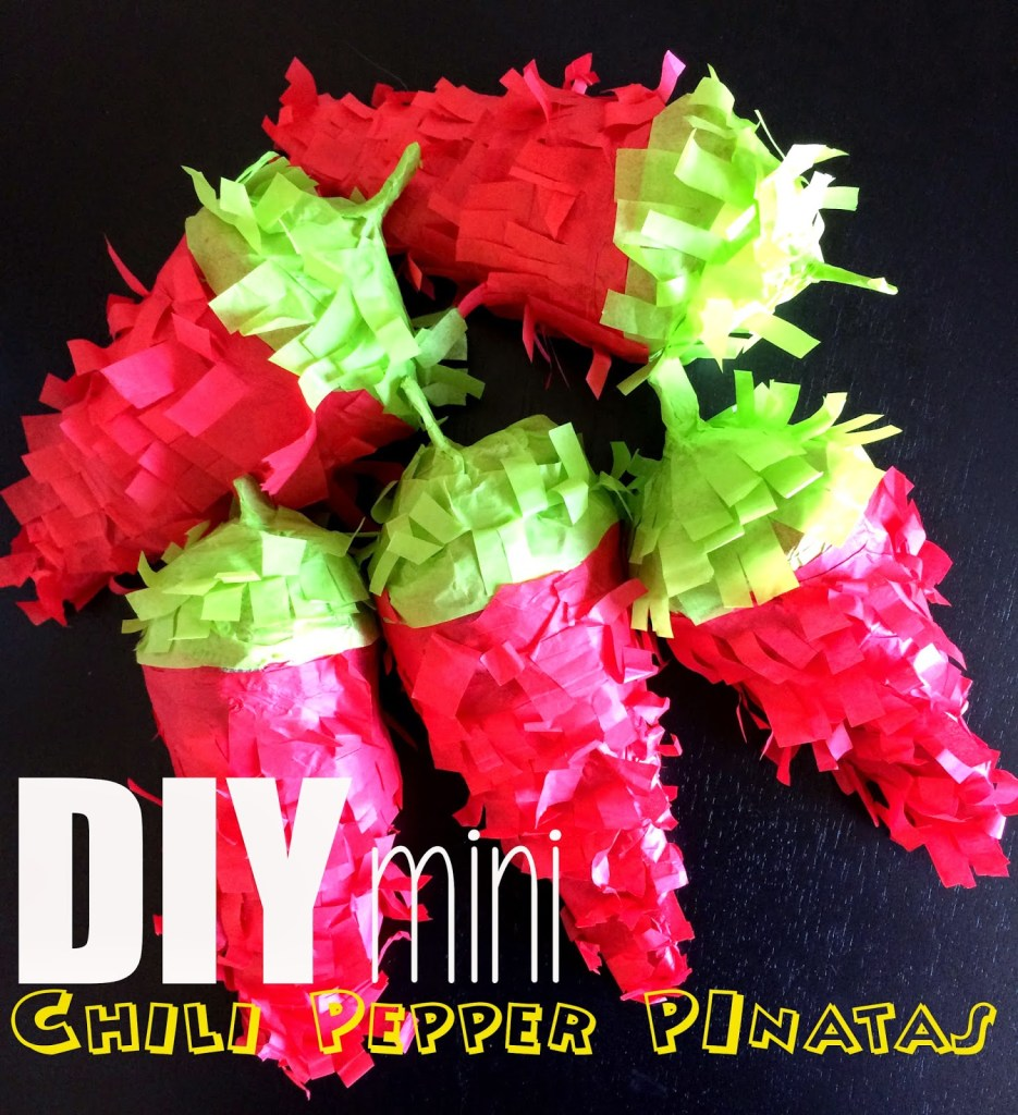 DIY mini chili pepper pinatas