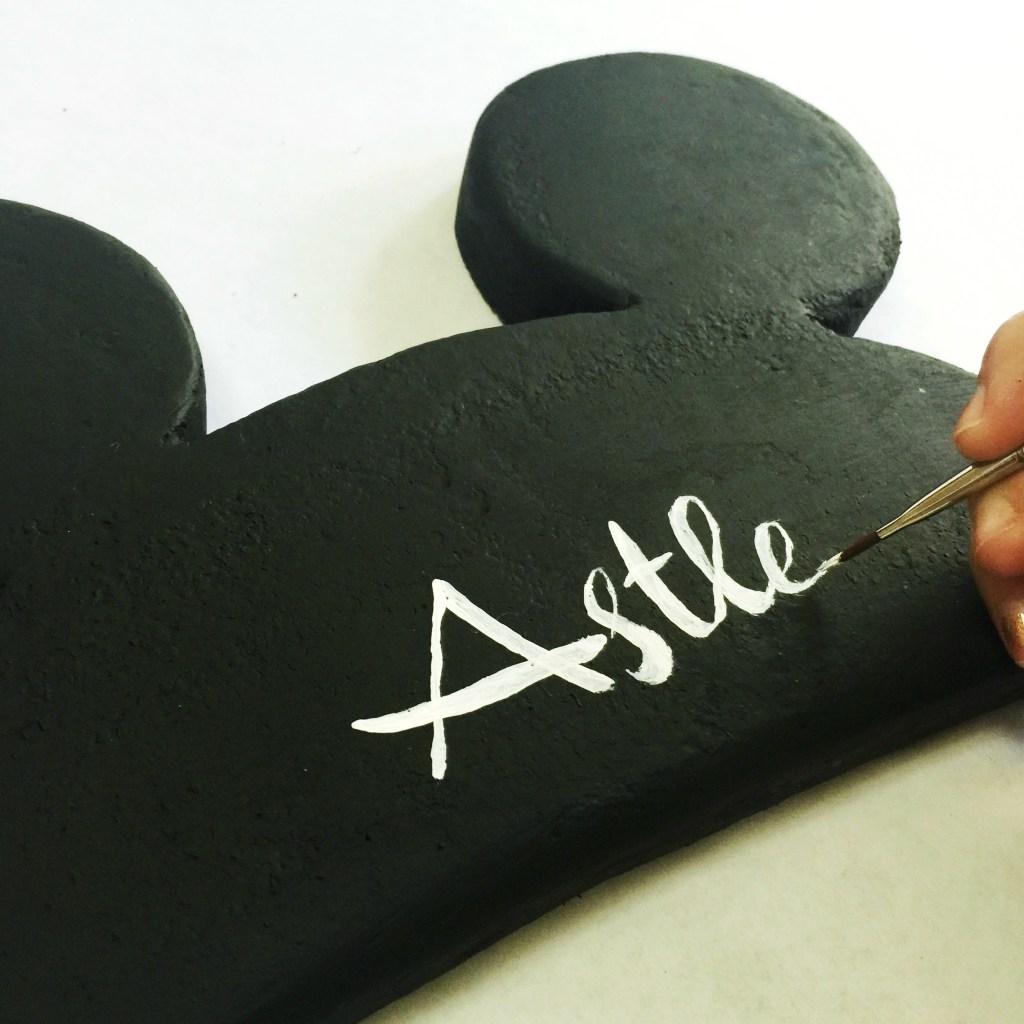 Personalize Mickey Ears Wall Art