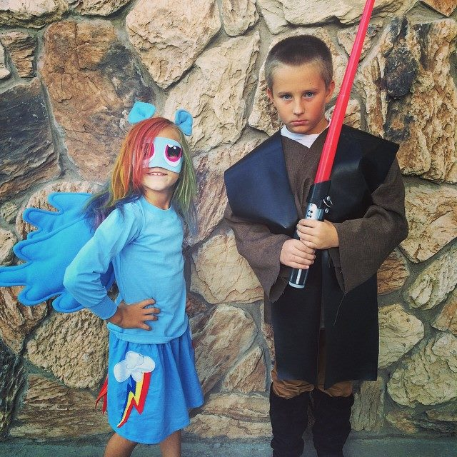 Rainbow Dash Jedi Costume Jolly and Happy