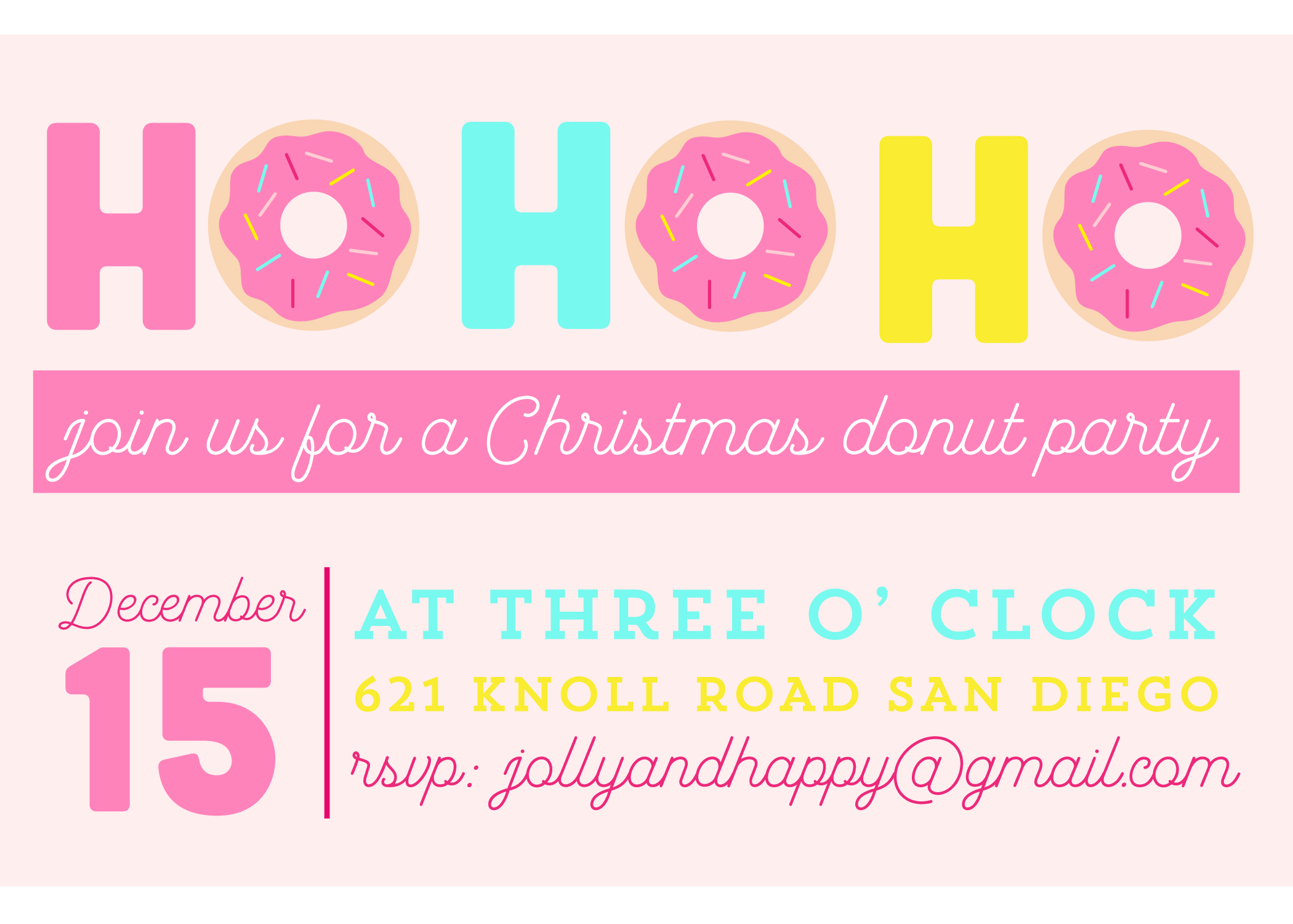 donut christmas party