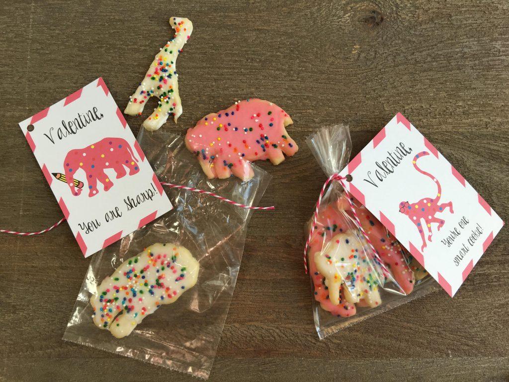 animal cookie valentine