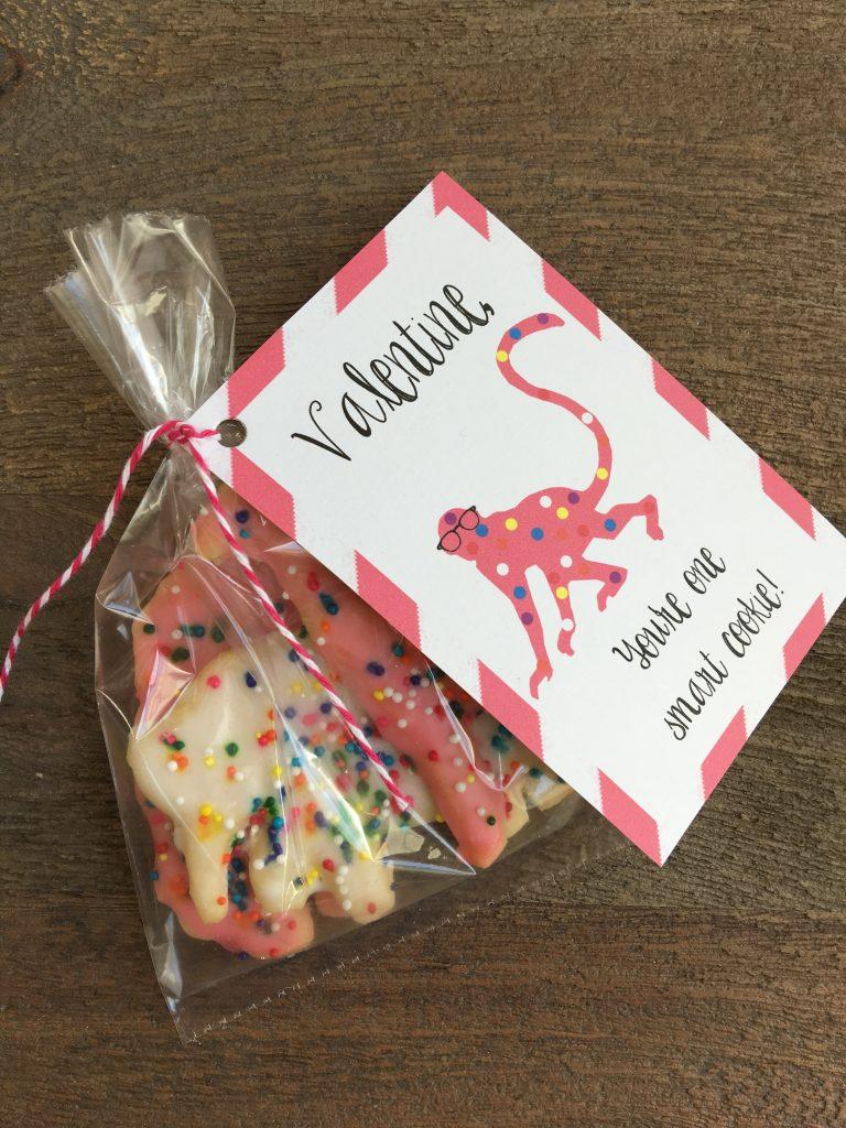 animal cookie valentine free printable