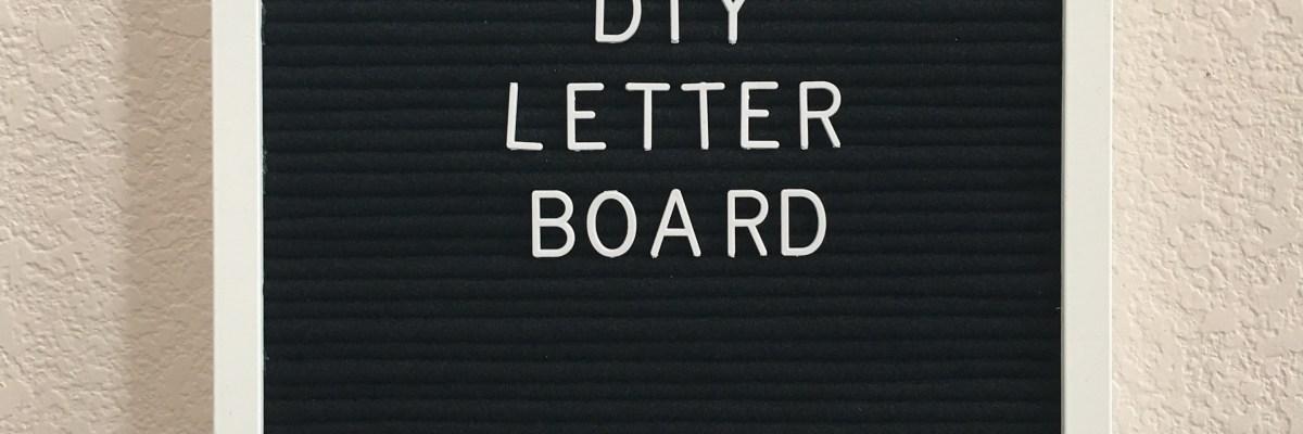 DIY Felt Letter Board