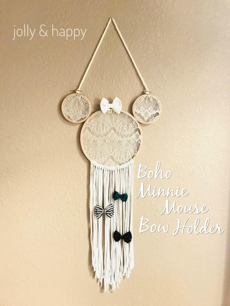 Diy Boho Minnie Mouse Bow Holder Jolly Happy