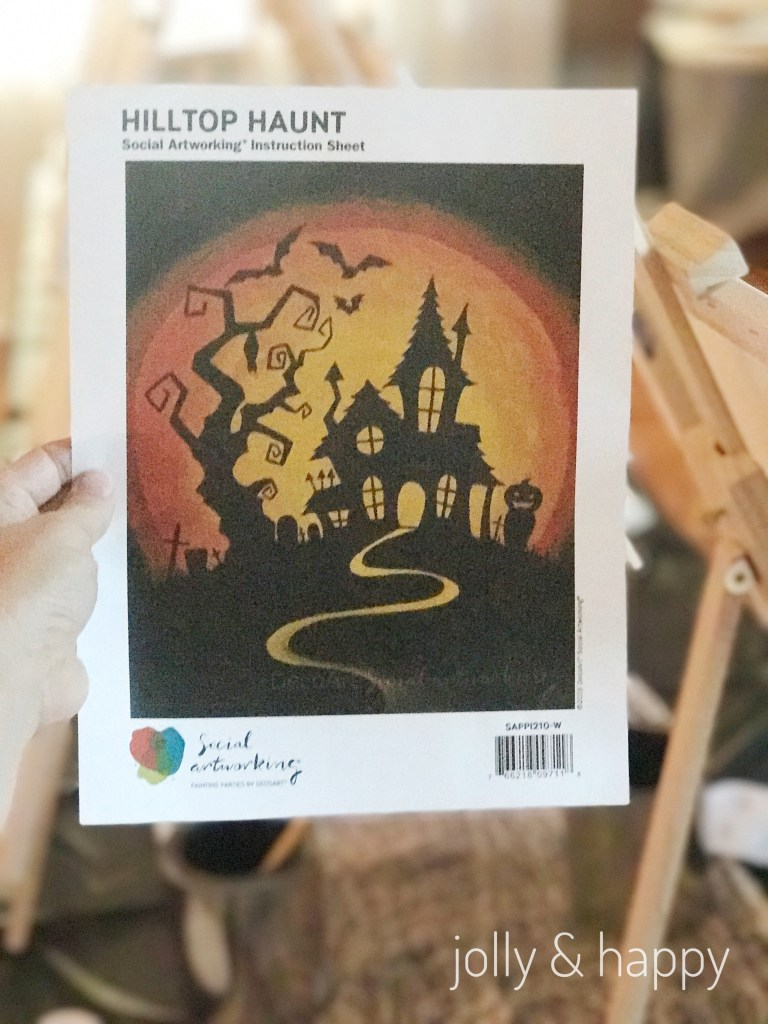 Hilltop Haunt Halloween Paint Party with Social Artworking