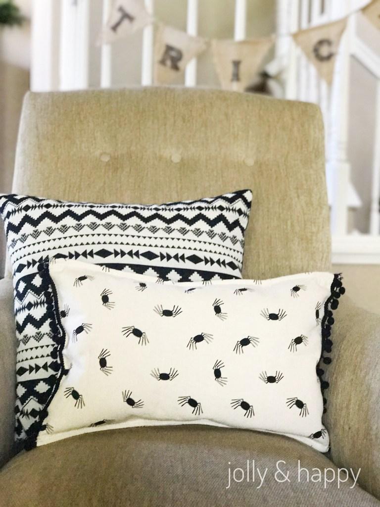 Target Dollar spot upcycle Halloween throw pillow