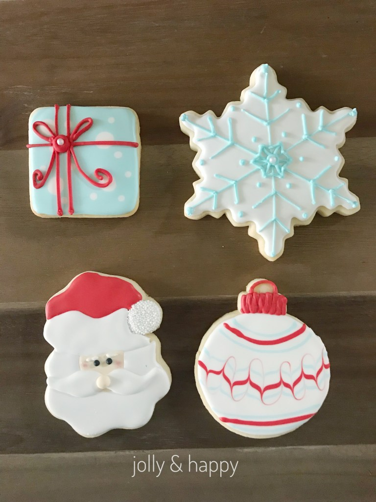 50's Retro Christmas cookie decorating