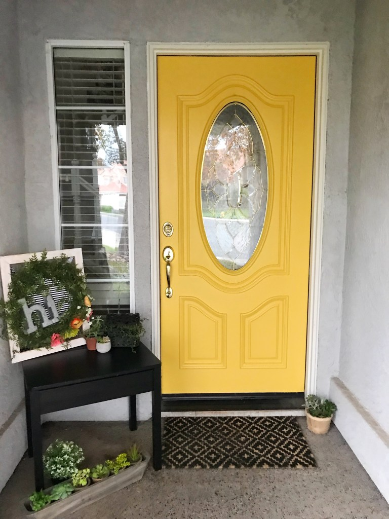 DecoArt Curb Appeal Front Door Refresh