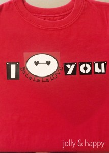 Valentine's Day DIY Cricut Shirt with Baymax