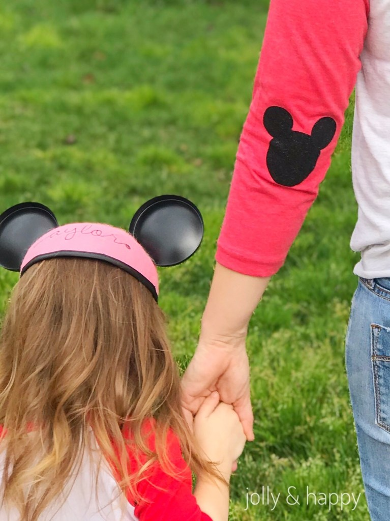 mickey mouse elbow patches DIY