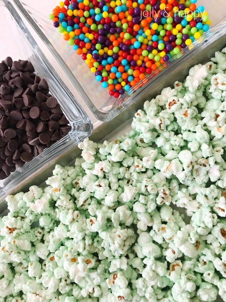 St. Patrick's Day shamrock shake popcorn