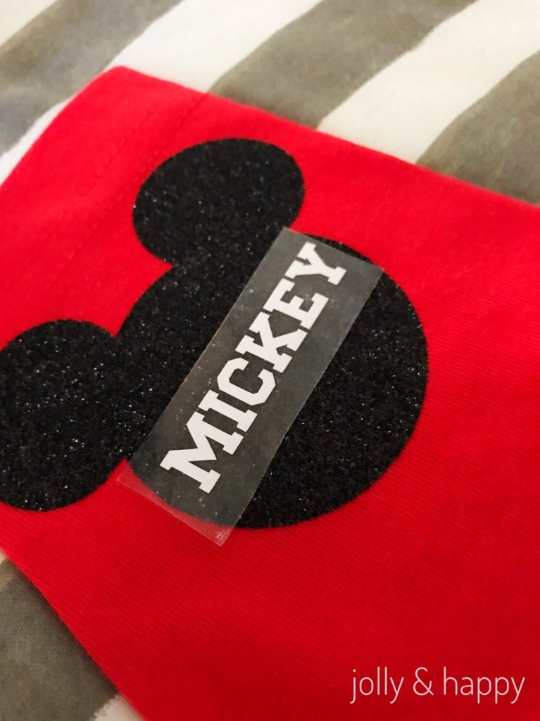 Mickey Mouse Iron-on patches with Cricut