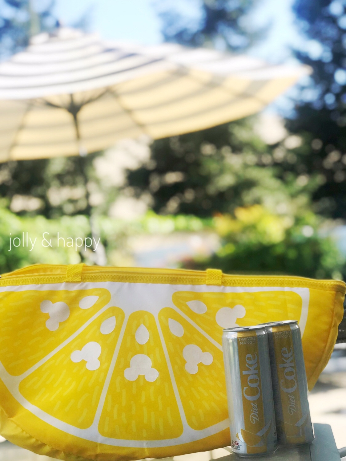 Mickey Lemon Wedge Cooler Bag with Diet Coke