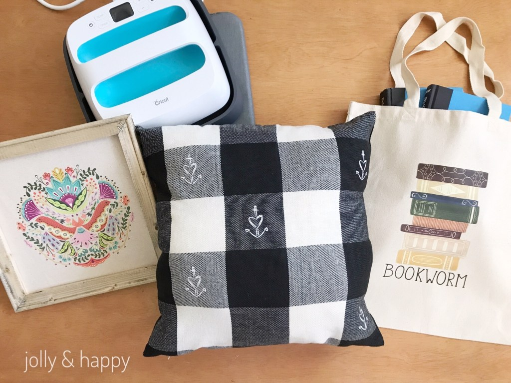 Easy projects with Cricut Iron on Designs and EasyPress