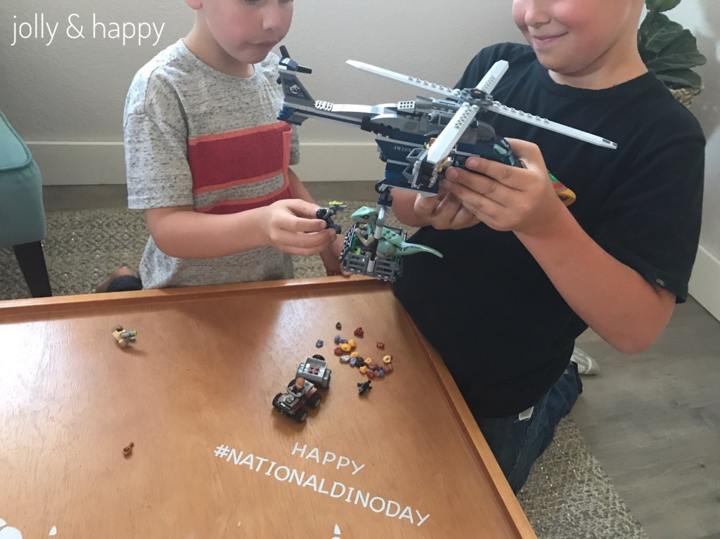 Playing with Jurassic World Lego to celebrate National Dino Day
