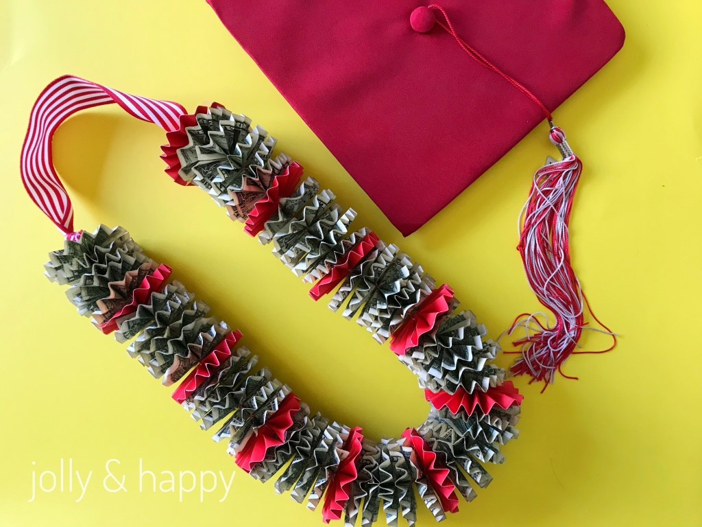 DIY Money Lei gift for graduates