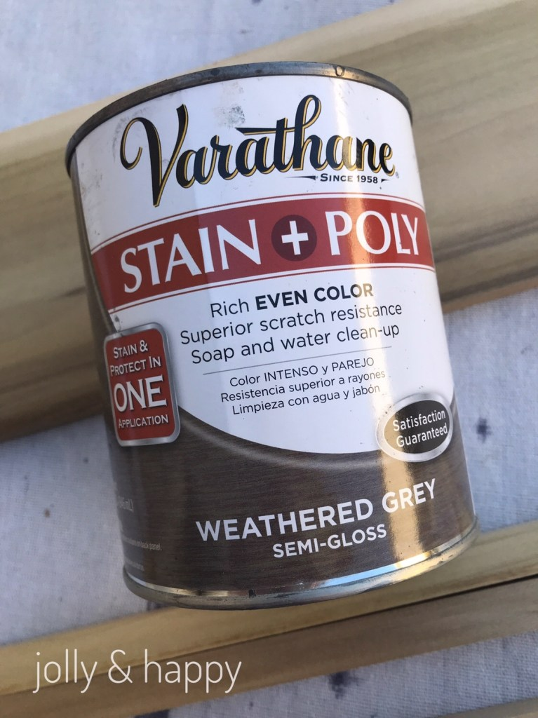 weathered grey Varathane Stain and Poly