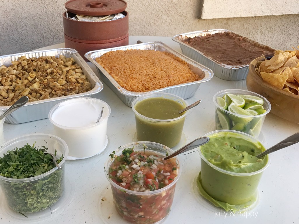 taco bar catered