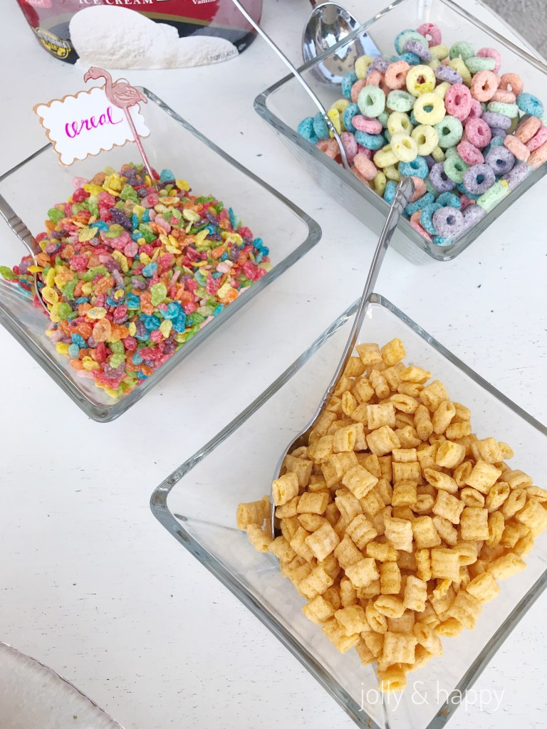 cereal topping for ice cream taco bar