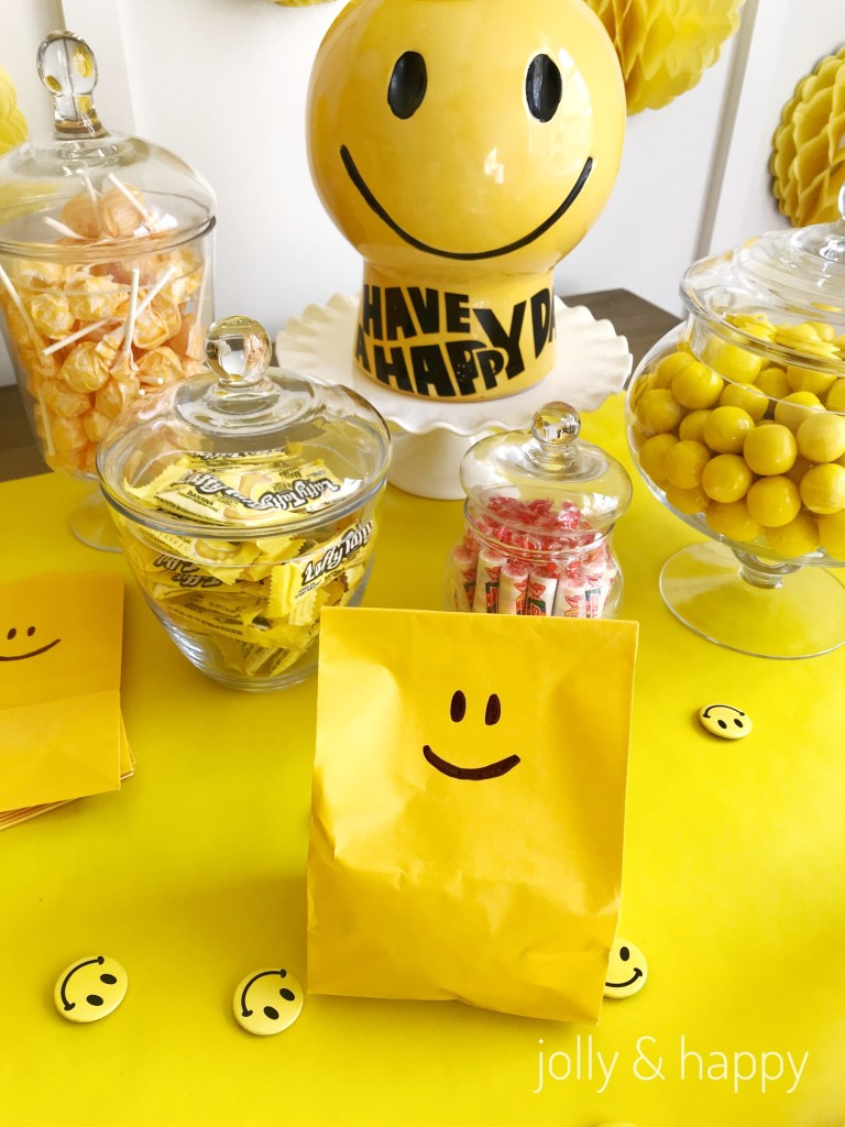 Yellow candy bar cheers and tears party