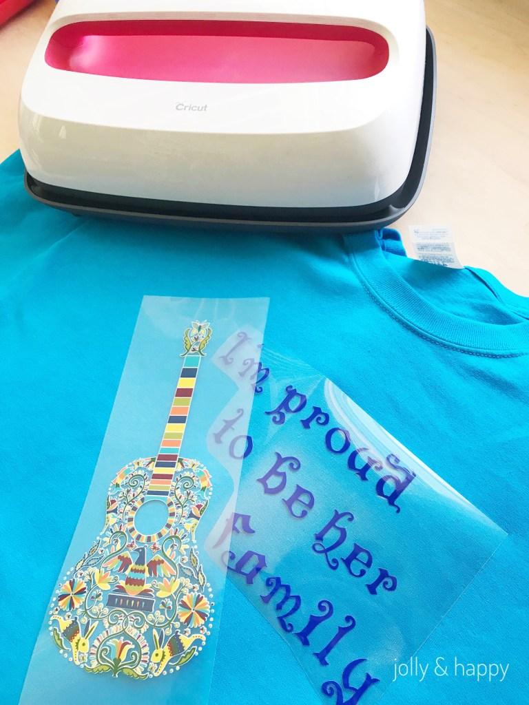 Cricut Iron-On Designs with Cricut heat transfer vinyl shirts