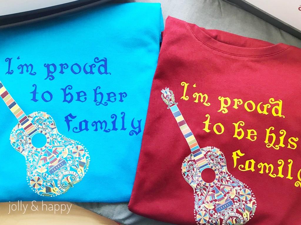 Coupes Disney's Coco shirts