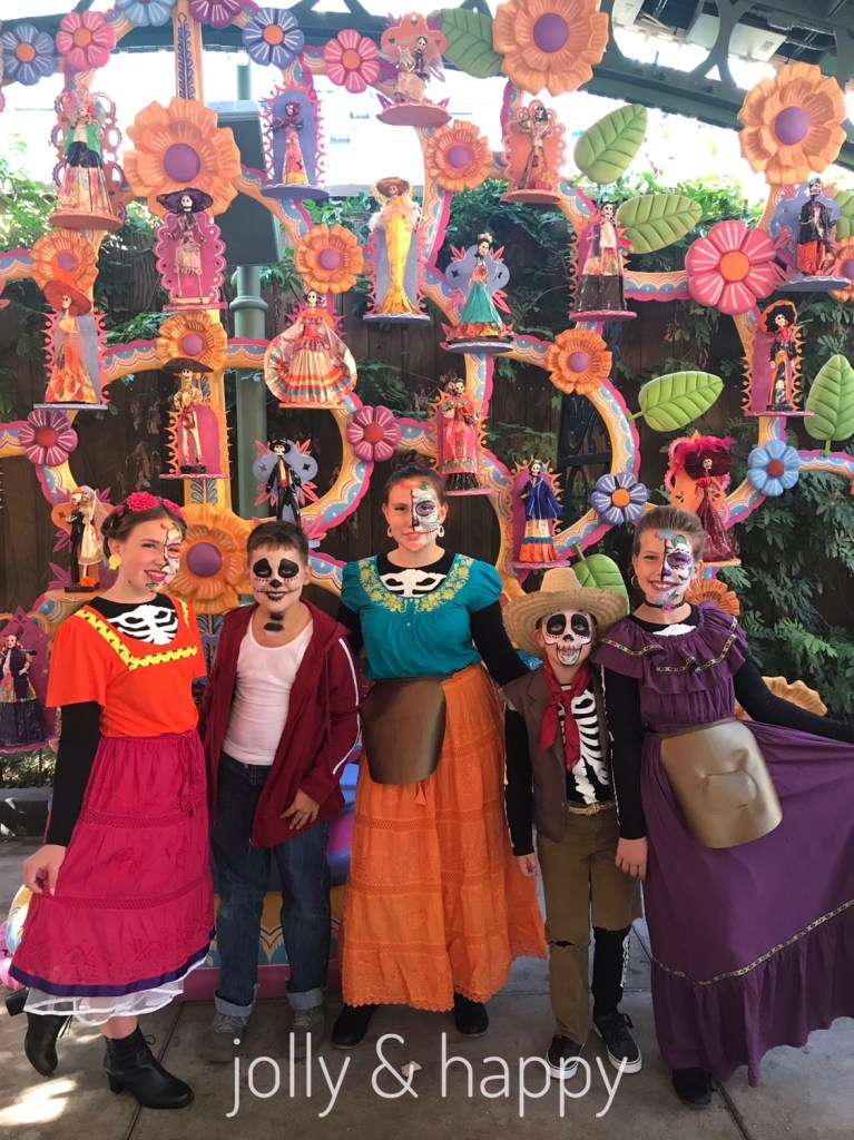 Homemade Coco Costumes at Disneyland