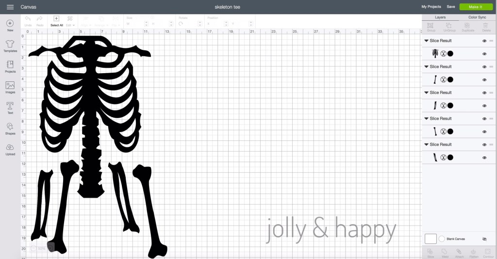 Skeleton bones for homemade Halloween costume