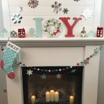 Red & Blue Christmas Mantel with Cricut Maker