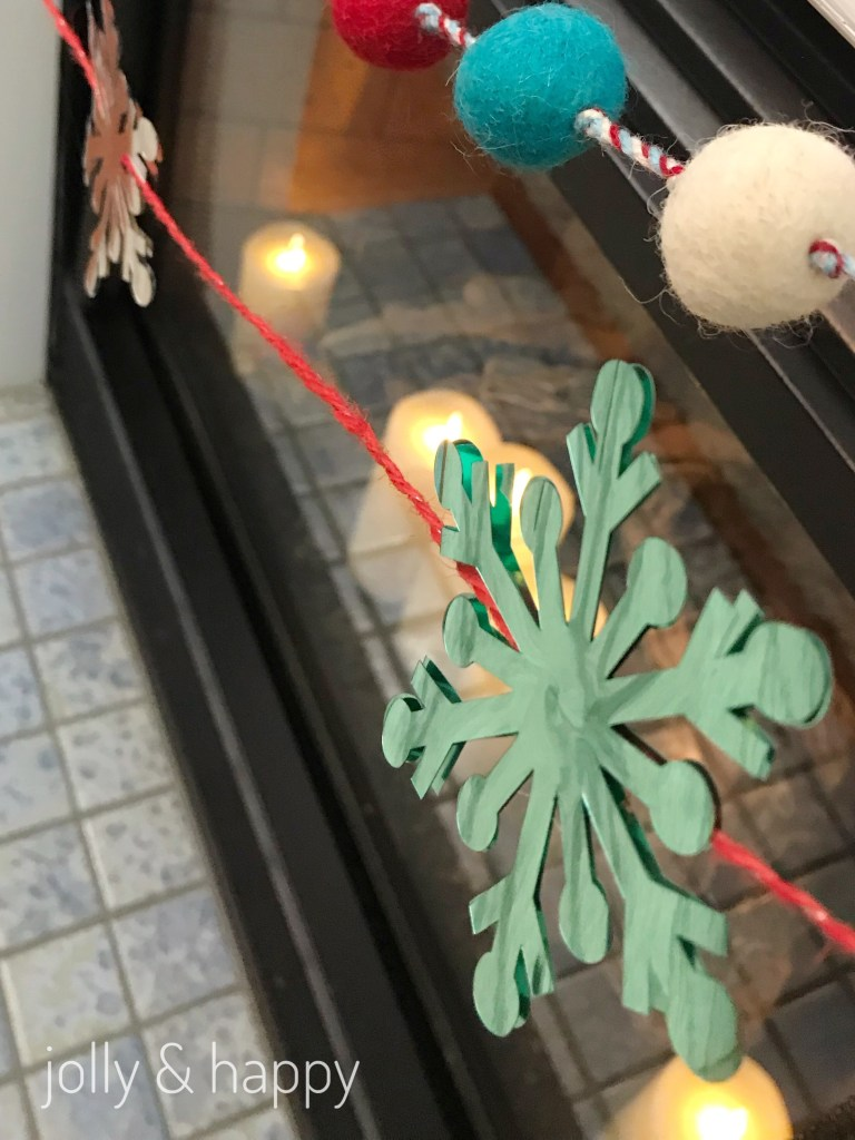 Add Snowflakes to a string to make a simple garland