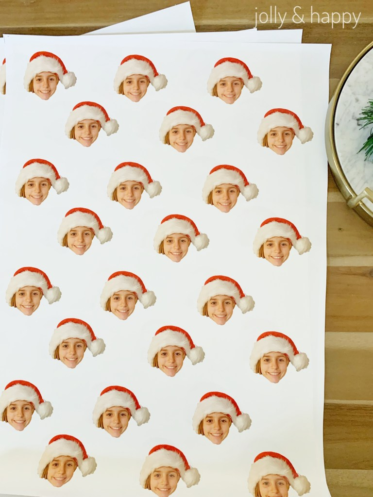 Adobe photoshop Elements 2019 custom wrapping paper with overnight prints
