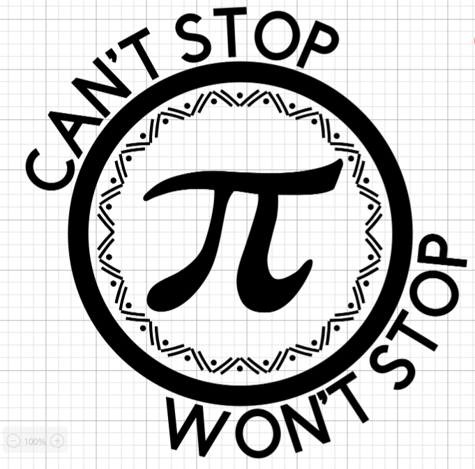 pi day shirt design for cricut